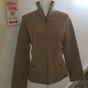 GALLERY QUILTED TAN JACKET- SZ M  NWOT